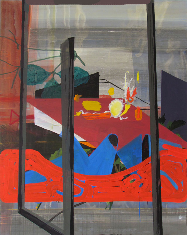 JULIAN HOOPER  Kingsland  2013 acrylic on linen 150 × 120 cm