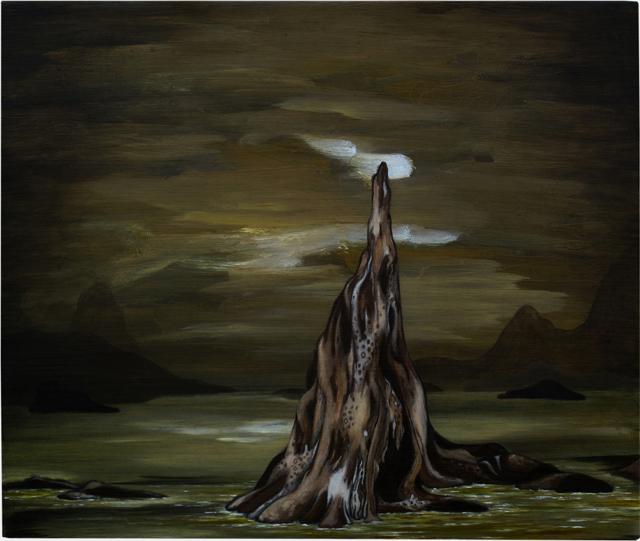 MARK RODDA  The Green Sea at Night  2013 oil on MDF panel 25 × 30 cm