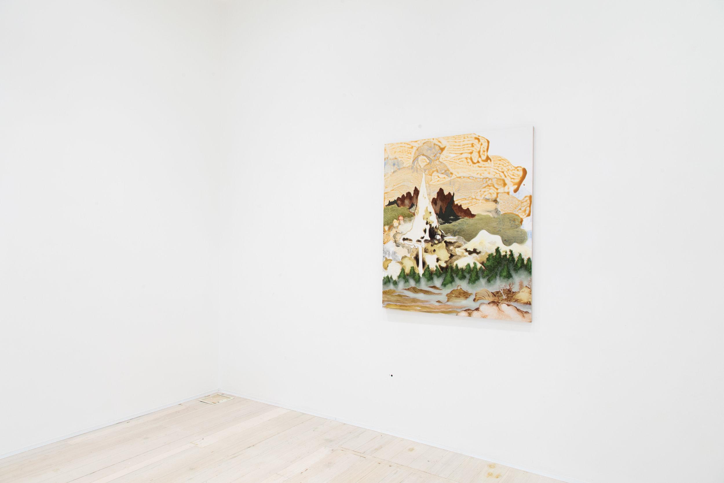 Installation view of Mark Rodda's painting