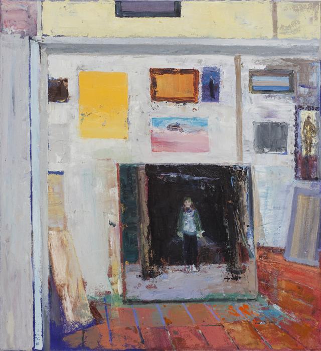 JELLE VAN DEN BERG  Palermo studio (Skye)  2010 oil on canvas 60 × 55 cm