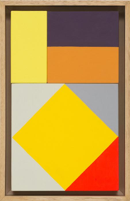 LOUISE TUCKWELL  Yellow Diamond  2016 acrylic on board 25 × 15 cm