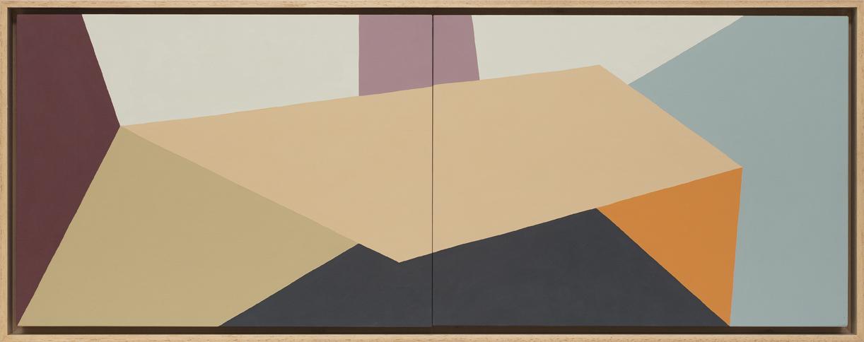 LOUISE TUCKWELL  Lay me Down  2016 acrylic on board 30 × 80 cm