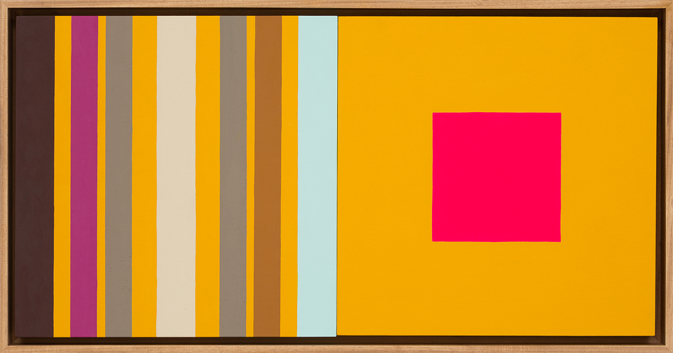 LOUISE TUCKWELL  Change and Sameness  2015 acrylic on board 30 x 60 cm