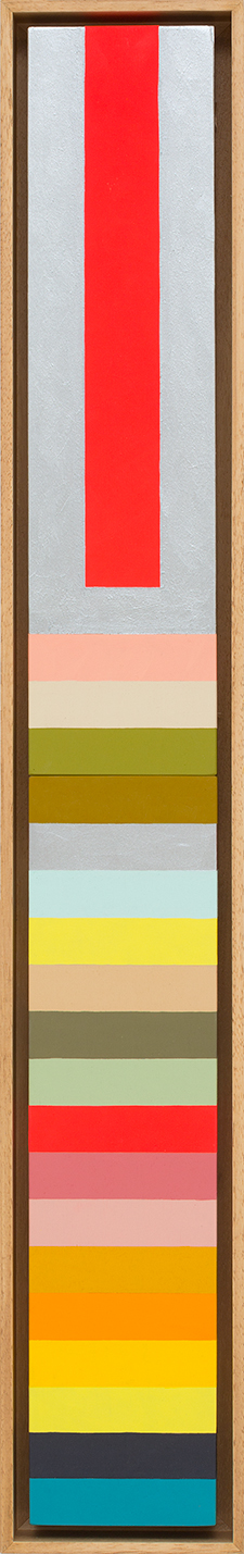 LOUISE TUCKWELL  All Colours  2015 acrylic on board 80 x 10 cm