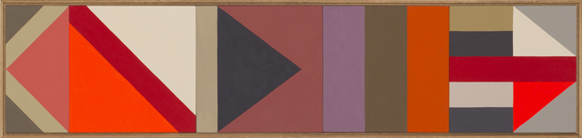 LOUISE TUCKWELL  Standing here  2014 acrylic on board 30 ×135 cm