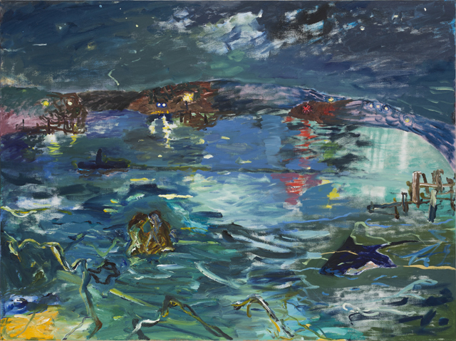 MICHAEL TAYLOR  Night tides  2013 oil and oil stick on linen 137 × 182 cm
