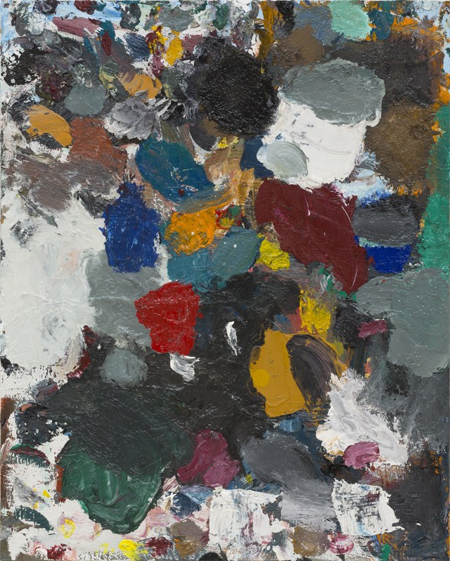 JAKE WALKER  Beaconsfield Parade palette painting 2  2013 oil/alkyd on board 31 ×41 cm