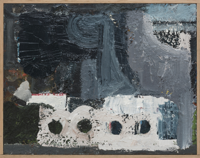 JAKE WALKER  Untitled painting 2  2010-13 oil and enamel on board in artist's frame 39 ×49 cm