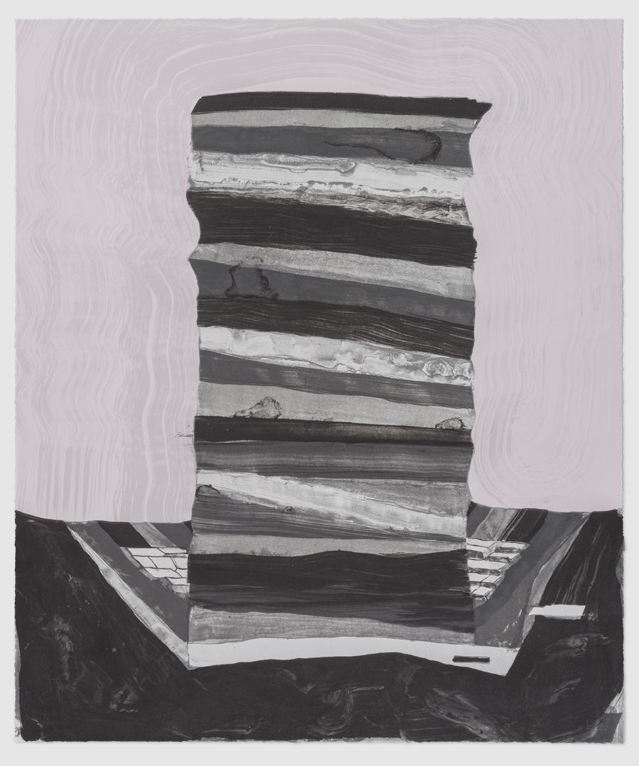 ANDRZEJ ZIELINSKI  Screen Saver  2015 lithograph on Rives BFK 83 × 71 cm (framed)