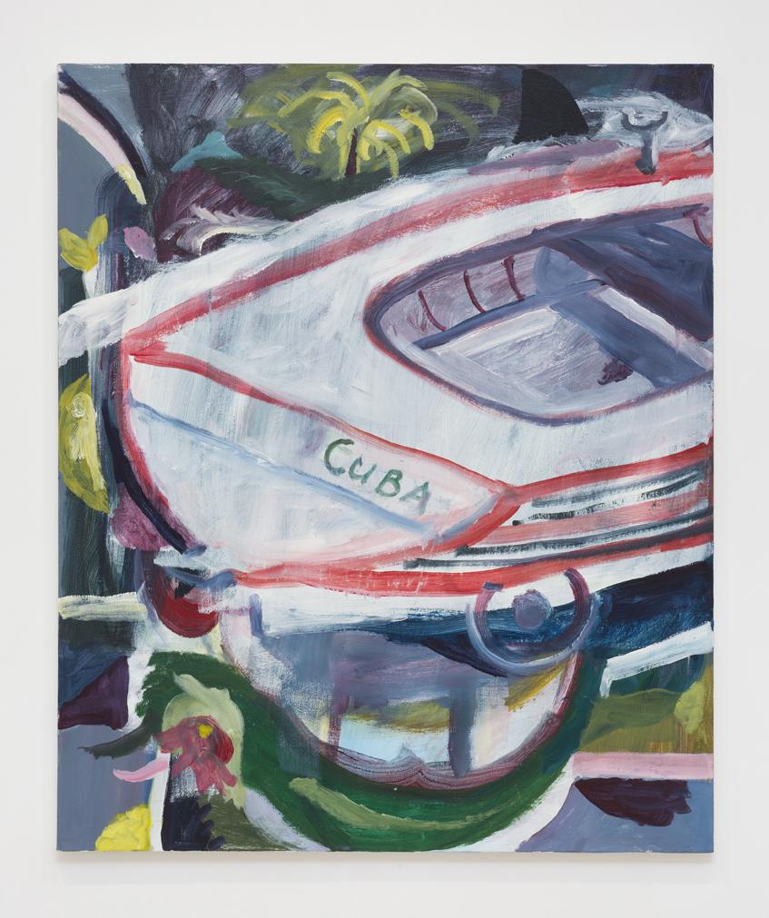 SIMON BLAU  Cuba  2017 acrylic on canvas 122 ×101 cm