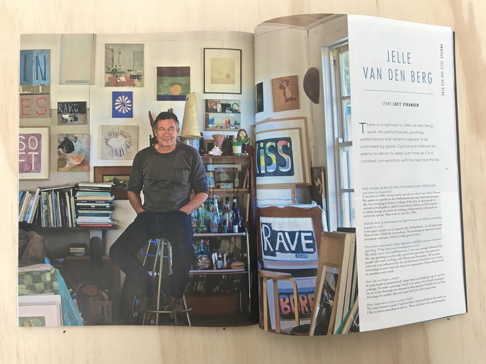 JELLE VAN DEN BERG  is profiled in issue 40 of  Artist Profile  magazine, Aug–Oct 2017
