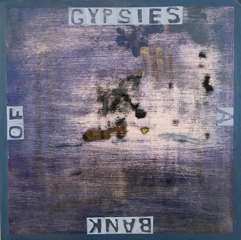 JELLE VAN DEN BERG  Bank of Gypsies  2016 oil on board 30 × 30 cm