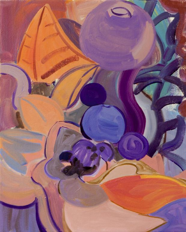 LAURA SKERLJ  Dumbo-Paradise Compote (Gossip Faze) 2016 oil on canvas 42 × 52 cm