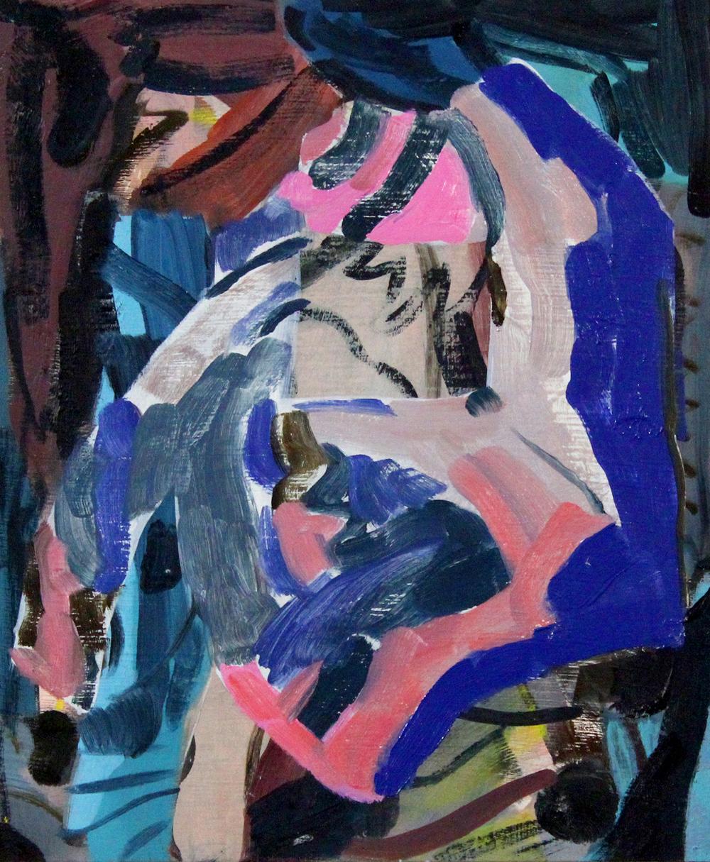 LAURA SKERLJ   Pink Mountain  2016  oil on board 25 × 31 cm