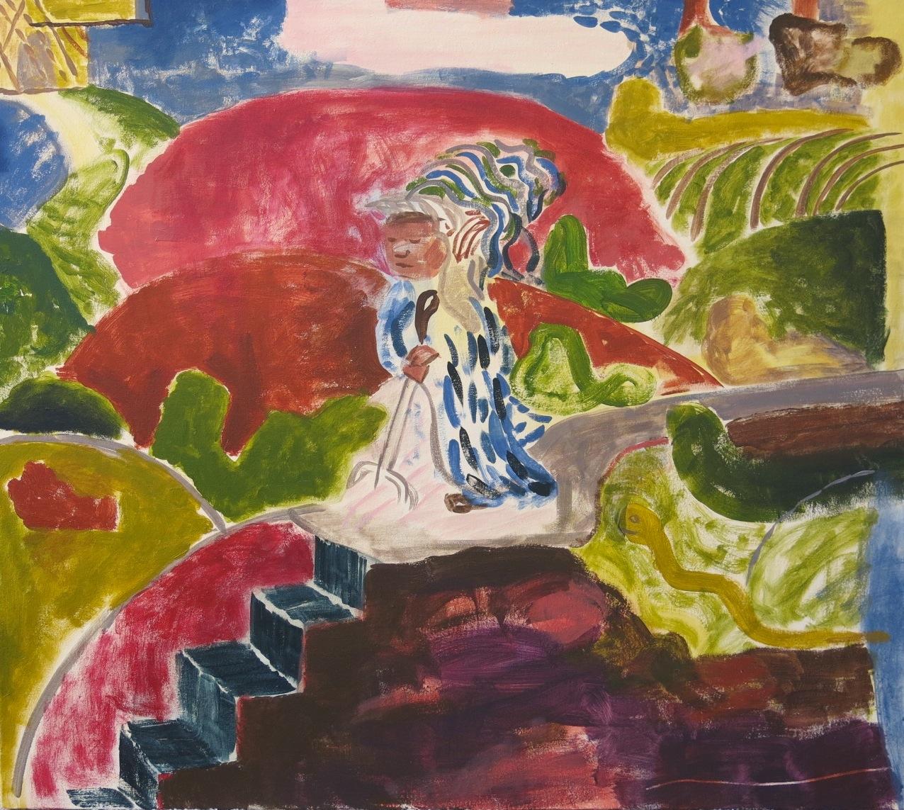 TIM PRICE  Wormer  2016 acrylic on canvas 80 × 90 cm