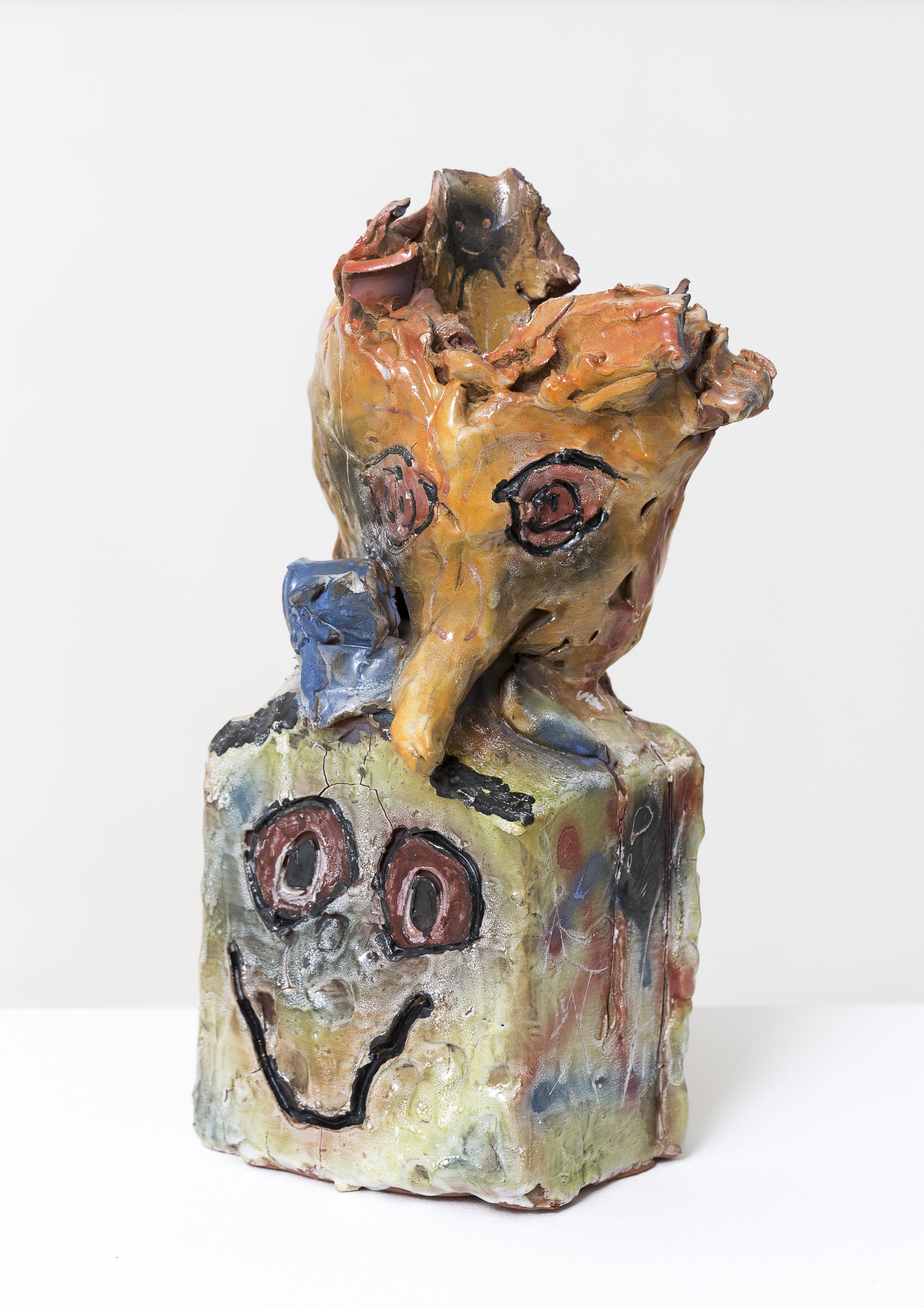 RYAN HANCOCK  Box cast 2016 glazed ceramic 34 × 14 × 11 cm