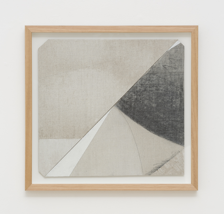 LYNNE EASTAWAY  Cornered  2017    laminated linen, graphite, acrylic 31.5 × 34 cm 39 × 41 cm (framed)