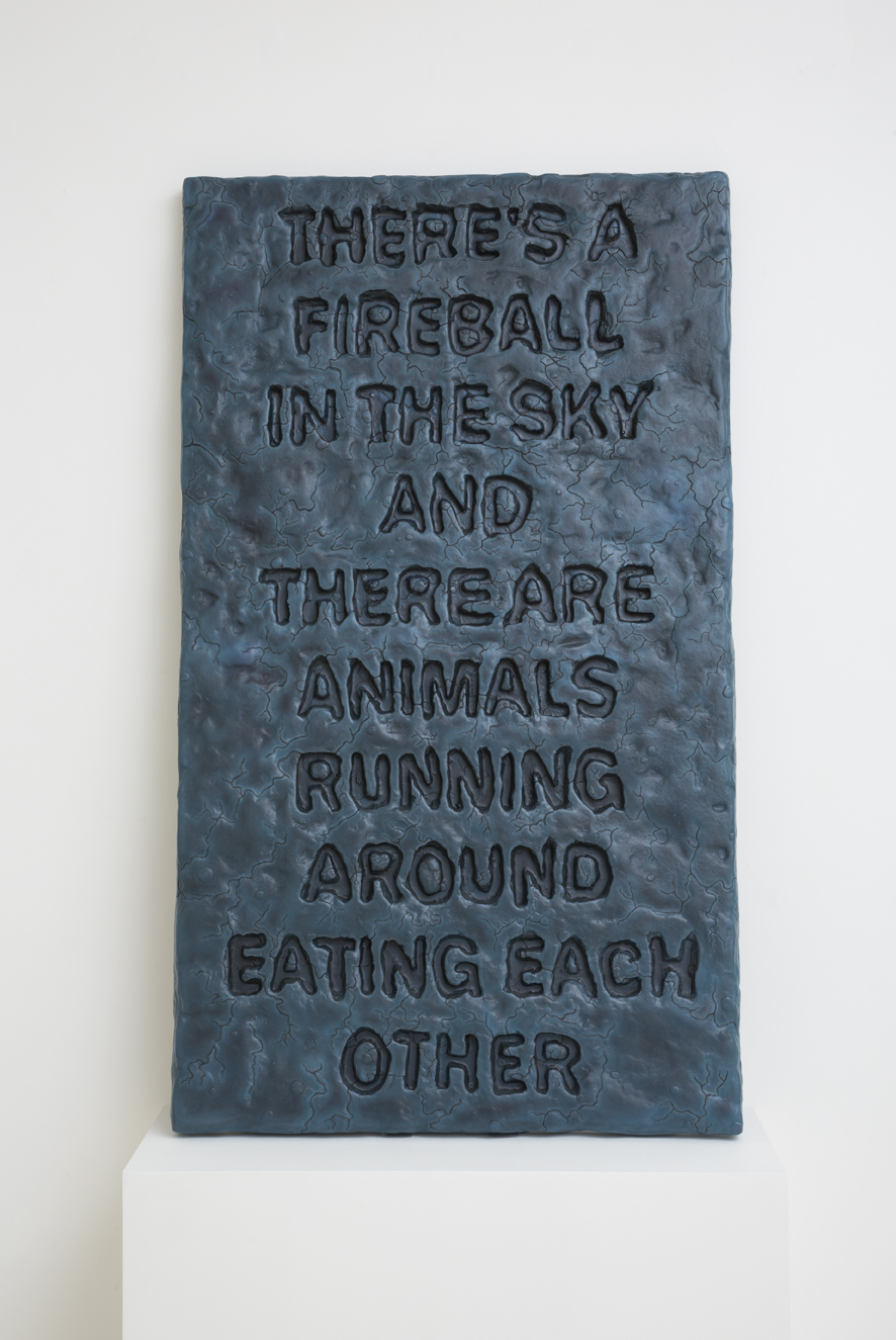 ROBIN HUNGERFORD Same as it Ever Was (Educational Prop) 2016 fibreglass, acrylic paint 140 × 81 × 4.5 cm