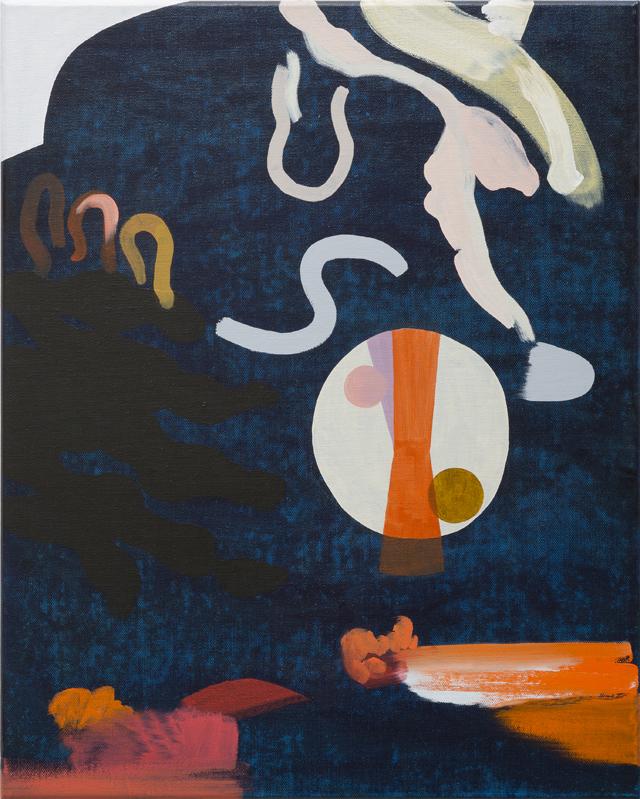 TONEE MESSIAH  Reverberate  2014 oil on canvas 51 × 41 cm