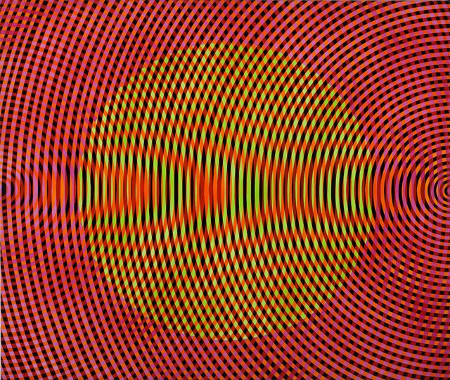 JOHN ASLANDIS  Sonic no. 30  2012 oil and acrylic on canvas 107 × 127 cm