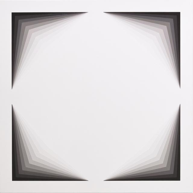 MAGDA CEBOKLI  Light Lines #1  2013 acrylic on linen 100 ×100 cm