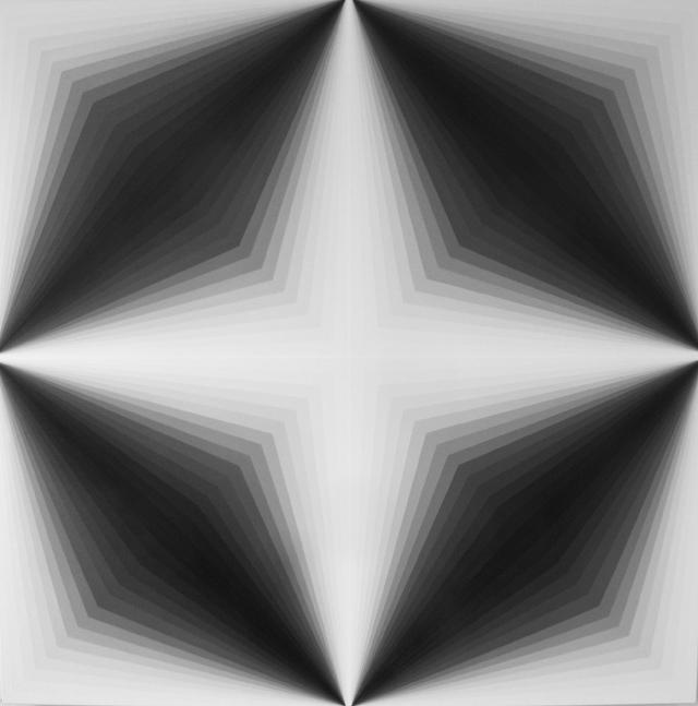 MAGDA CEBOKLI  Light Lines #3  2014 acrylic on linen 100 ×100 cm