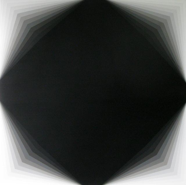 MAGDA CEBOKLI  Light Lines #4  2014 acrylic on linen 100 × 100 cm