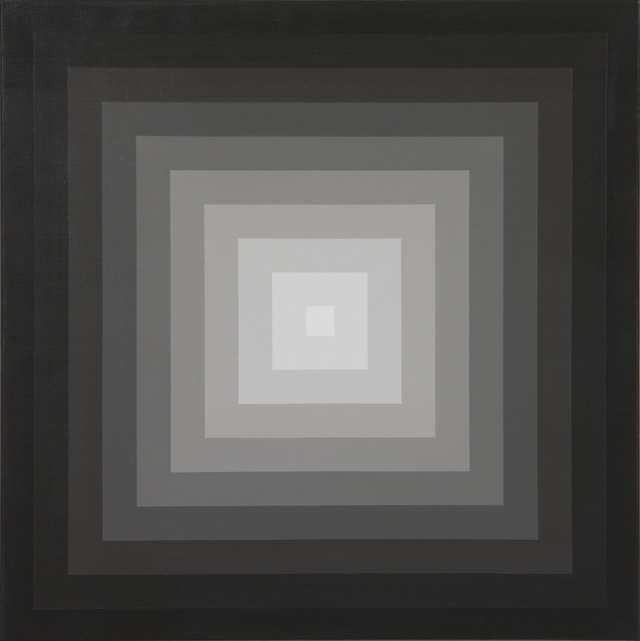 MAGDA CEBOKLI  Proximal #4  2008 acrylic on linen 46 × 46 cm