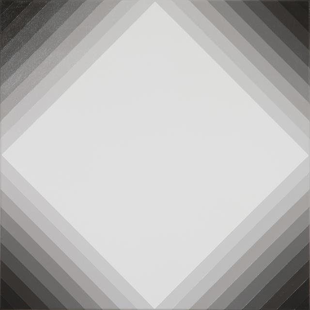 MAGDA CEBOKLI  Proximal #6  2008 acrylic on linen 46 × 46 cm