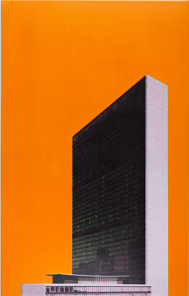 ADAM NORTON  New New York  2015 synthetic polymer and pigment ink on canvas 167 ×107 cm