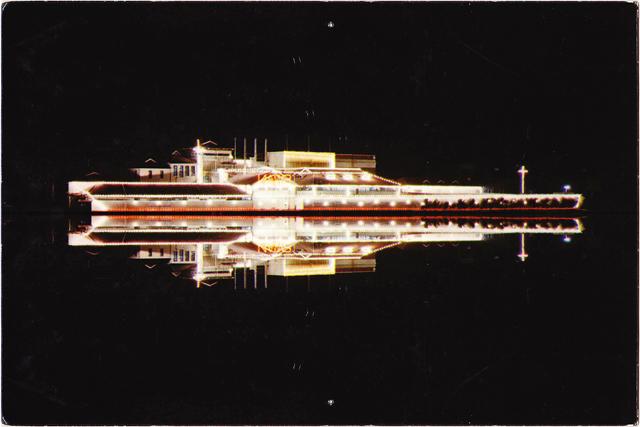 ADAM NORTON  Swan Spaceship  2015 pigment ink on card Edition of 3 + 1 AP 10 ×15 cm (framed)