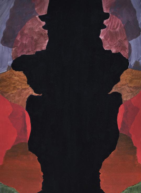 BELEM LETT  Vase  2015 oil, luminescent pigment on aluminium composite panel 61 × 45 cm