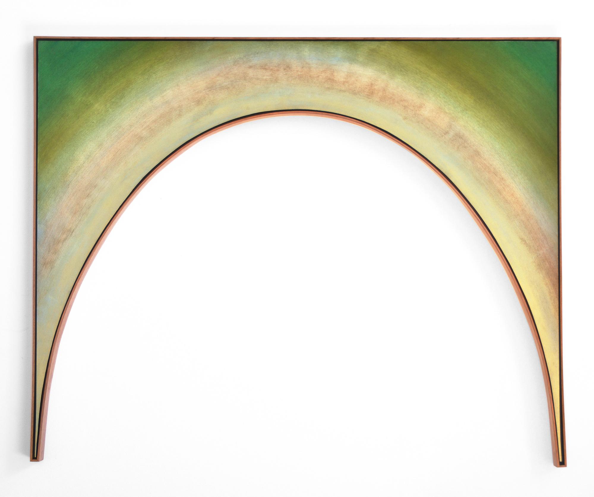 BELEM LETT  Tunnel Vision 1  2015 oil, luminescent pigment, on aluminium composite panel 120 × 100 cm