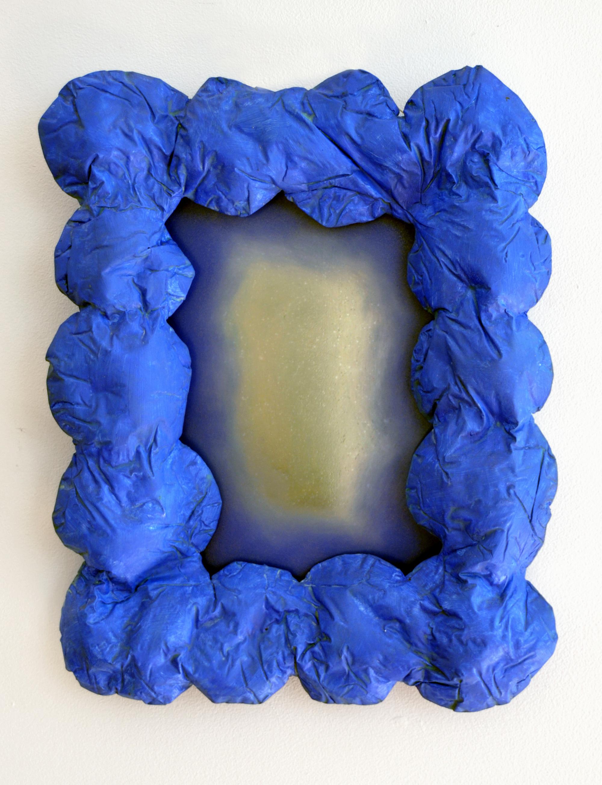 BELEM LETT  Blue  2015 oil on perspex panel, luminescent pigment, polyester resin 43 × 33 × 6 cm