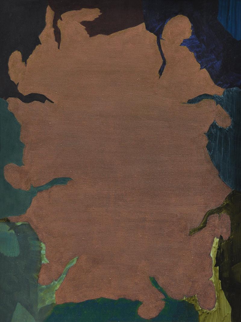 BELEM LETT  Cave  2015 oil, luminescent pigment on aluminium composite panel 53 × 40 cm