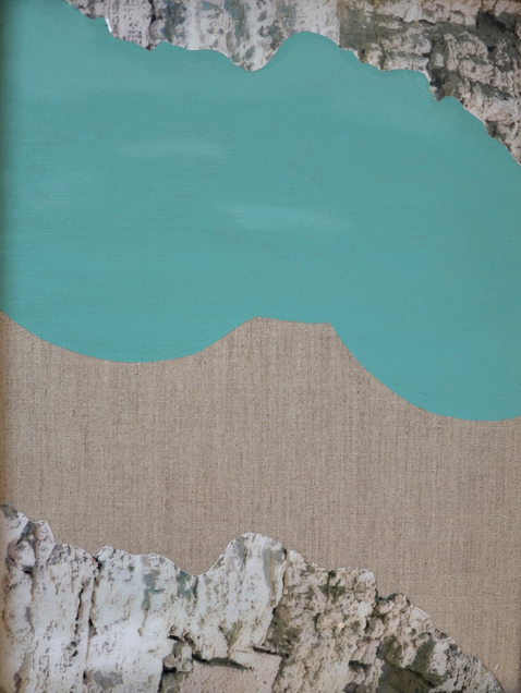 ELOISE KIRK  Beyond the Pale  2015 Collage, acrylic and resin on linen 45 × 35 cm