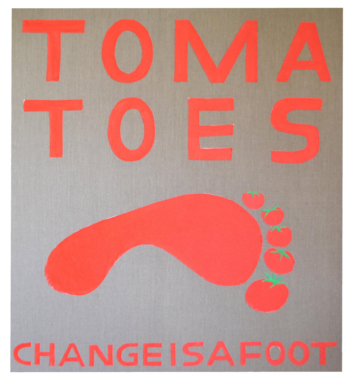 SEAN RAFFERTY  Tomatoes  2015 Acrylic on canvas on linen 152 × 137 cm