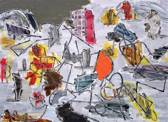 STUART WATTERS  Revolution in Flatland  2015 oil on canvas 168 x 233 cm