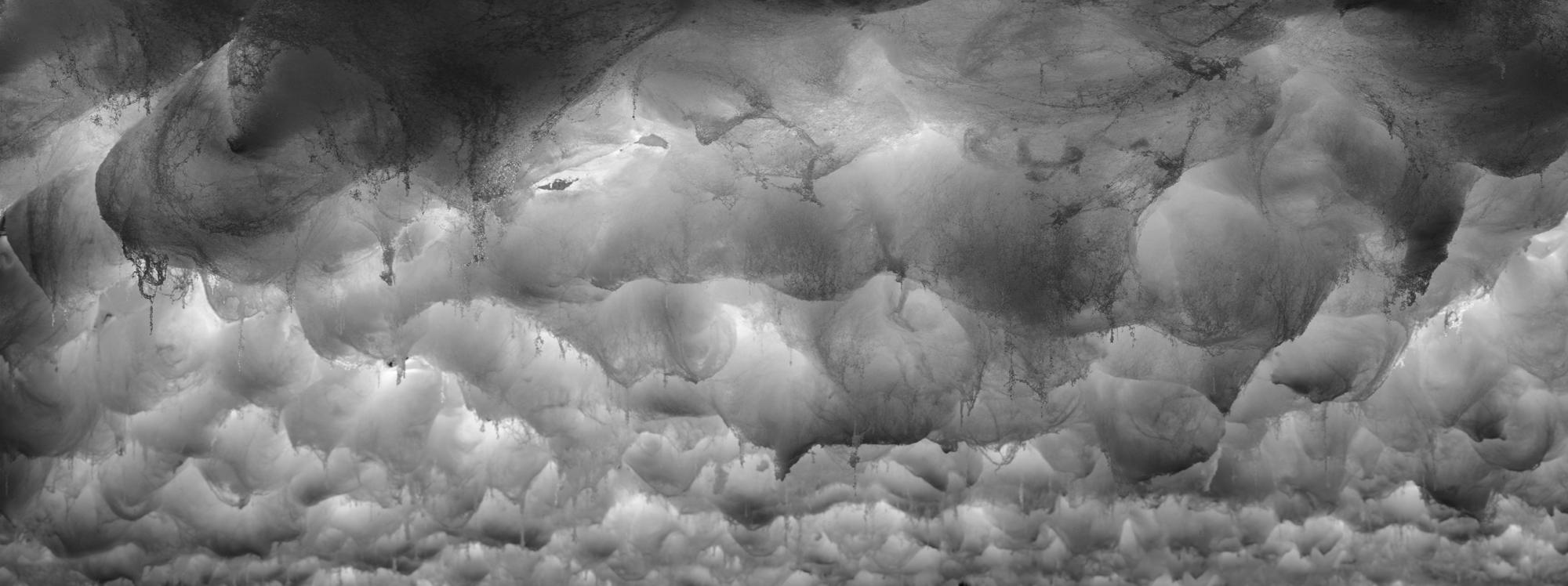 DAVID LAWREY & JAKI MIDDLETON  Downfall #5  2016 c-type metallic print 126 × 48 cm (framed)
