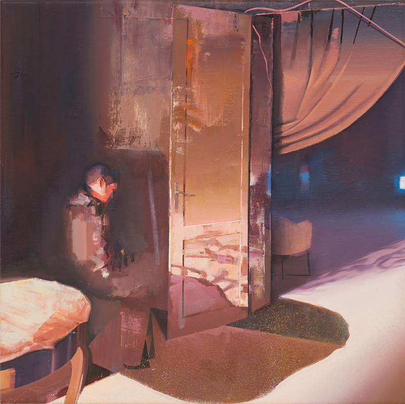 DAVID RALPH  Thinking  2015 oil on canvas 60 x 50 cm
