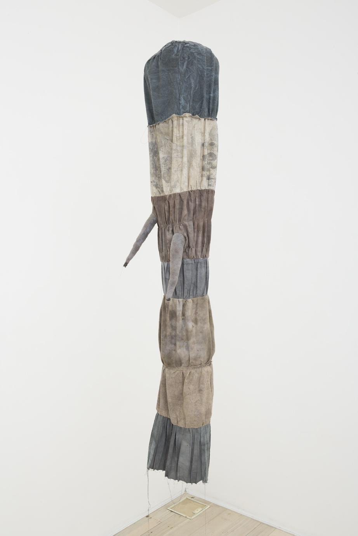 JADE PEGLER  Sad Sack  2016 fabric, thread, yarn, hand and machine stitching, gojiru and pigments, mixed media 160 × 50 × 50 cm