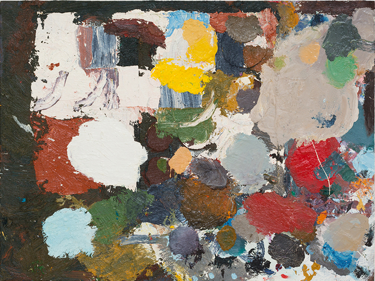 JAKE WALKER  Beaconsfield Parade palette painting 1  2013 oil on board  46 × 61 cm