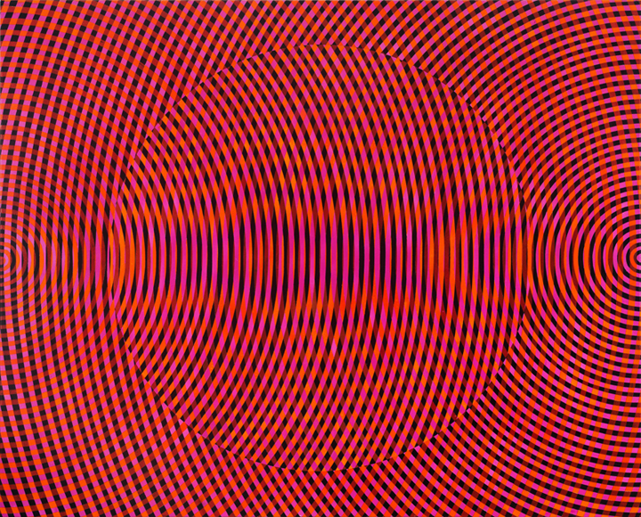JOHN ASLANIDIS  Sonic No. 63  2017 oil and acrylic on canvas 122 × 137 cm