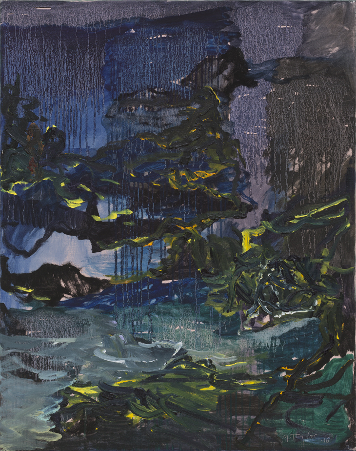 MICHAEL TAYLOR  Through the Night  2016 oil on canvas 122 × 96 cm
