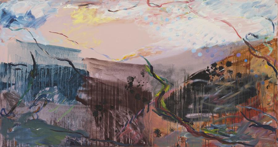 MICHAEL TAYLOR  Kybeyan  2015 oil on canvas 90 × 169 cm