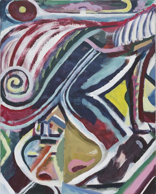 SIMON BLAU  Walk Around A Horse  2017 acrylic on canvas 76 × 61 cm