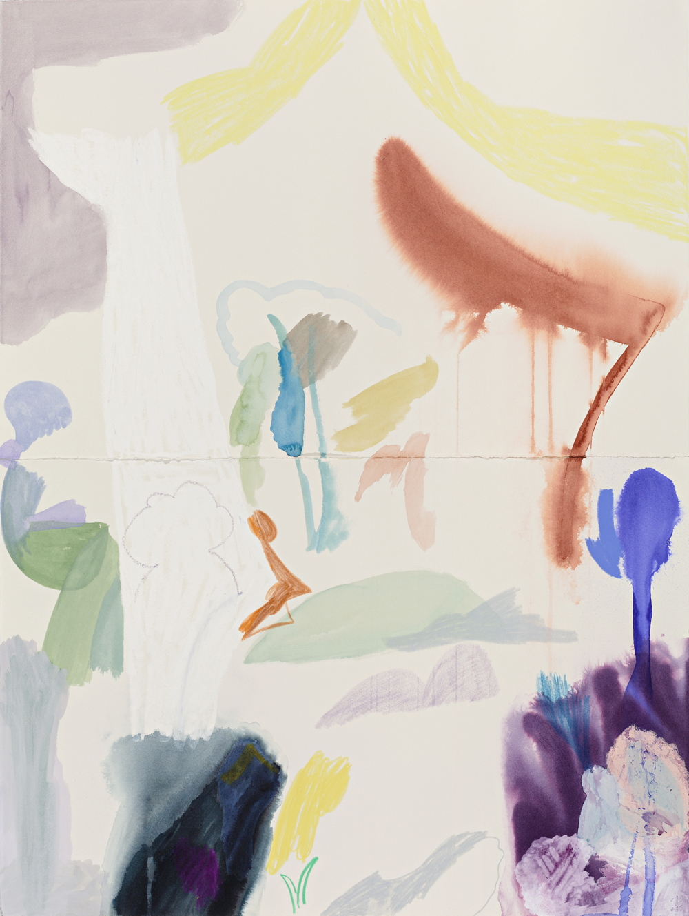 TONEE MESSIAH  Terrarium Ecology  2017 mixed media on cotton rag paper 76 × 56 cm