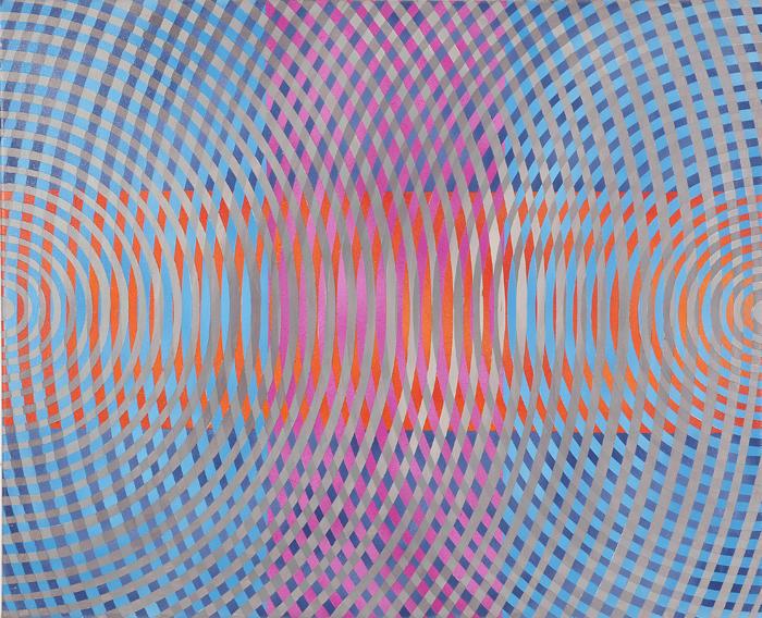 JOHN ASLANIDIS  Sonic sub intersection no.2 2010 oil and acrylic on canvas 66 ×81.5 cm