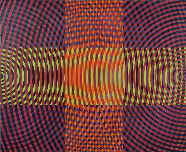 JOHN ASLANIDIS  Sonic sub intersection no.1 2010 oil and acrylic on canvas 66 ×81 cm