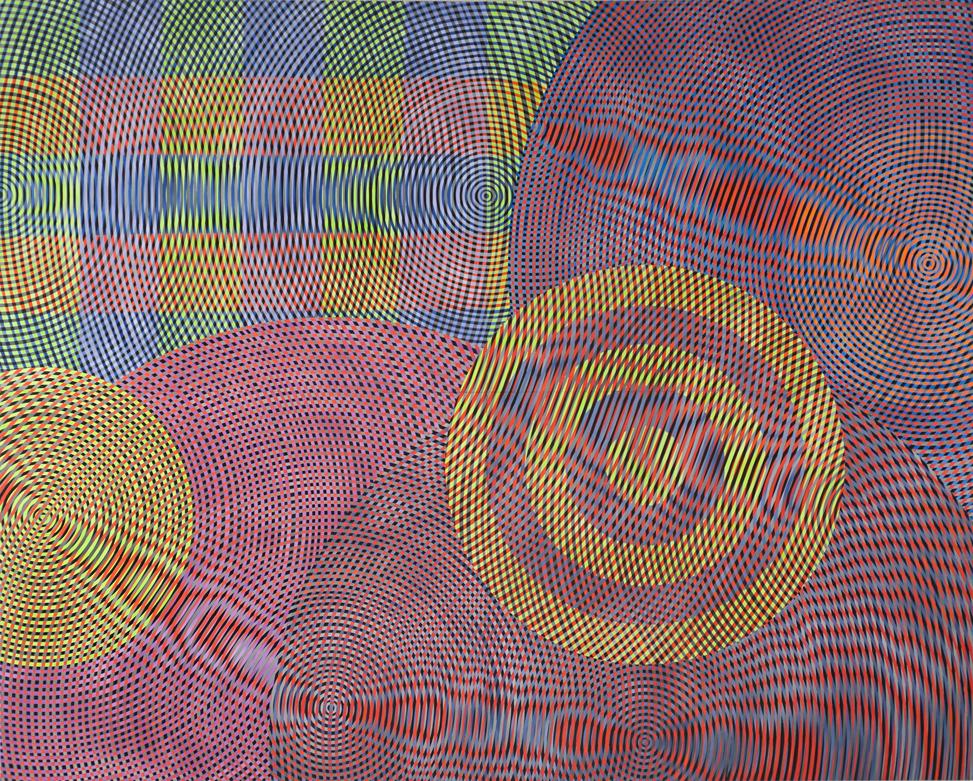 JOHN ASLANIDIS  Sonic network no. 8 2010 oil and acrylic on canvas 244 ×305 cm